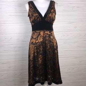 Arden B. Velvet floral fall dress Sz S